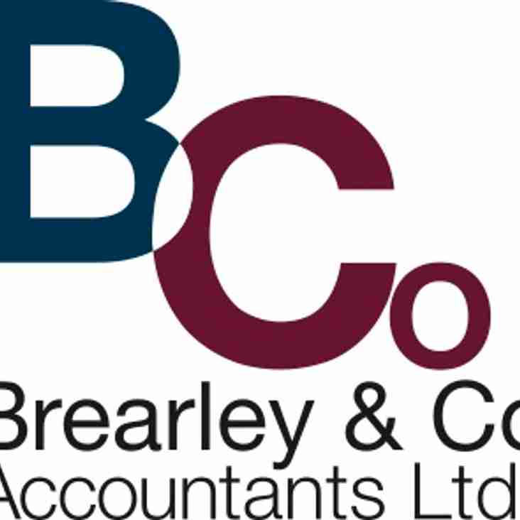 Brearley and Co Accountants join as club sponsor