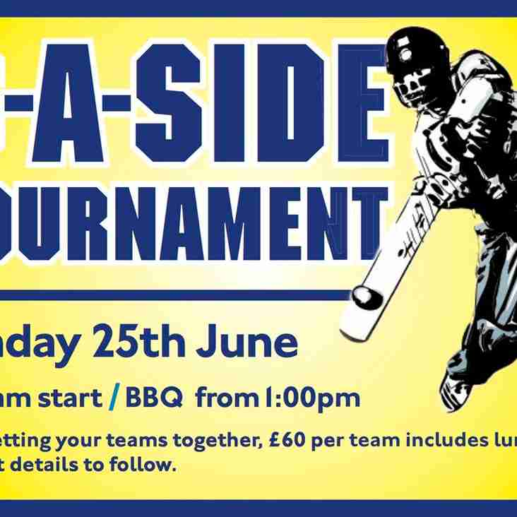 6-A-Side Tournament Reminder - Sunday 25th