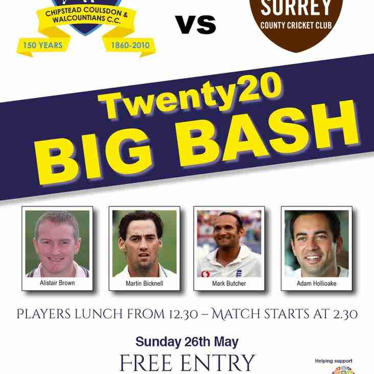 Surrey Masters T20 Day this Sunday from 12.30pm