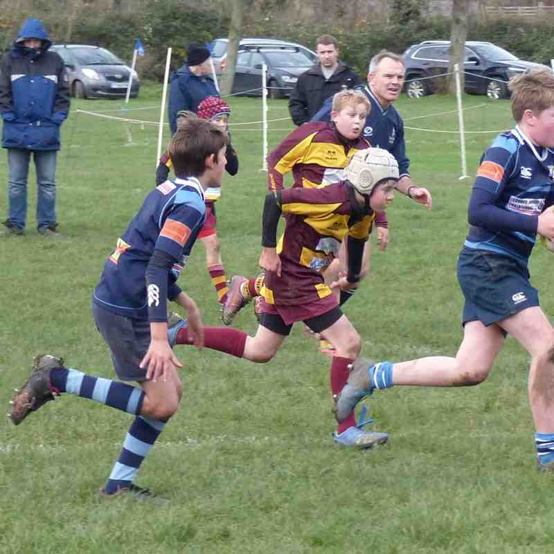 Under 13 v EXETER SARACENS - 20th December 2015