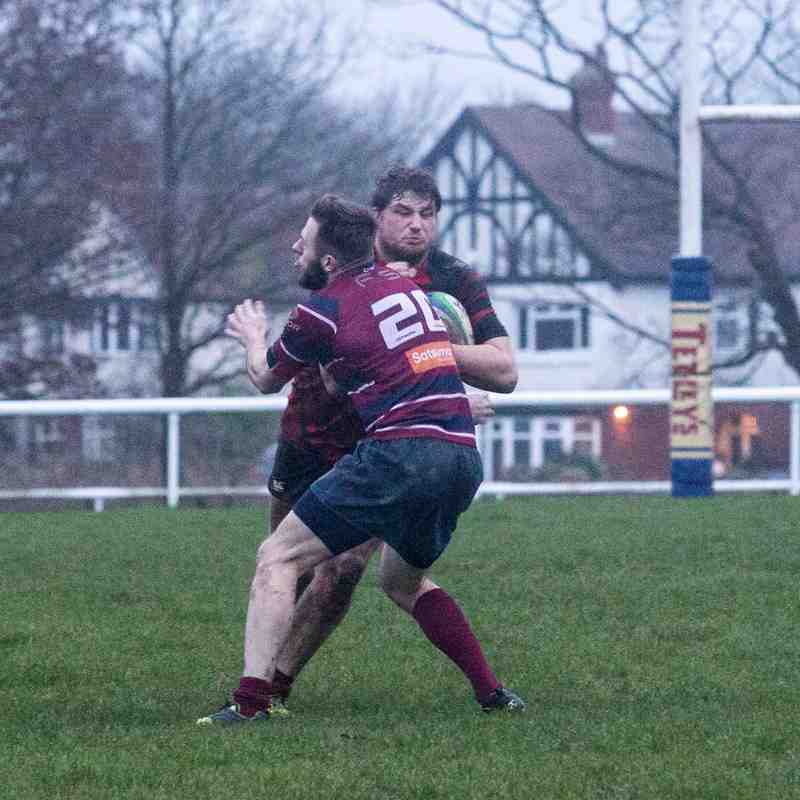 Leeds Modernians' 1st XV 19-12-2015. Poor image quality: a VERY dark afternoon in Cookridge.