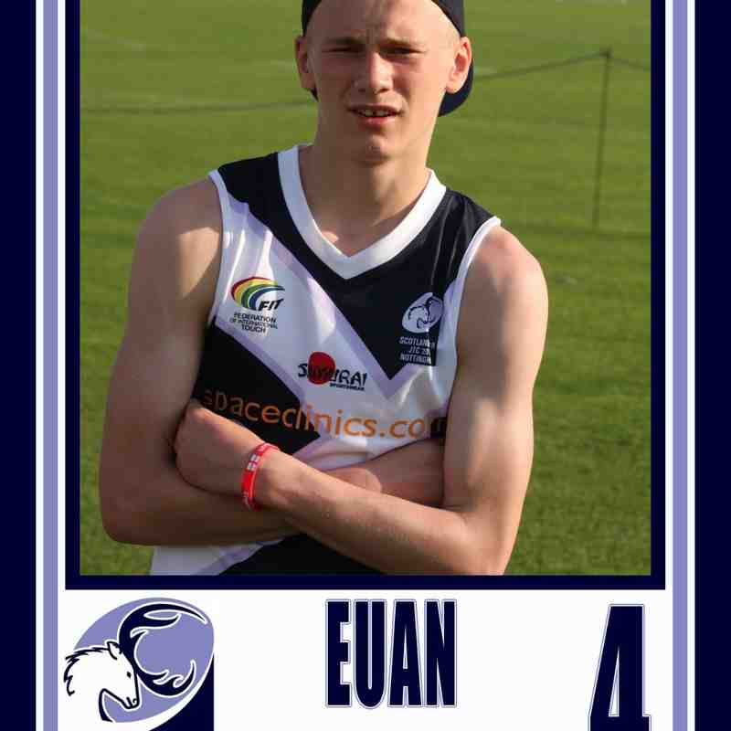 EUAN'S  u18 Scotland Touch Rugby Debut