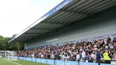 Bromley Open New Stand In Front of Bumper Hayes Lane Crowd