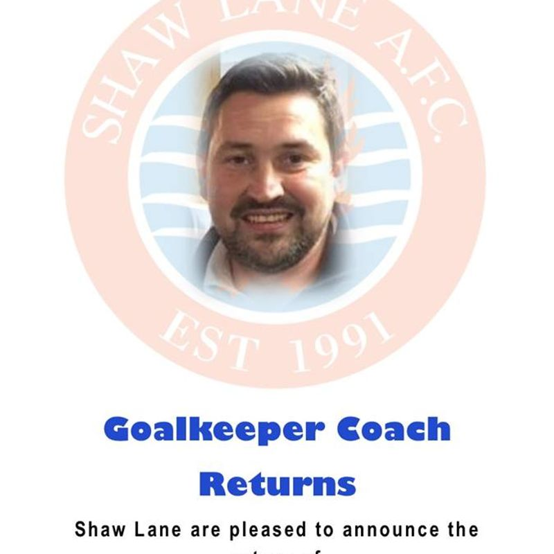 Rich Lawrence returns as Goalkeeper Coach
