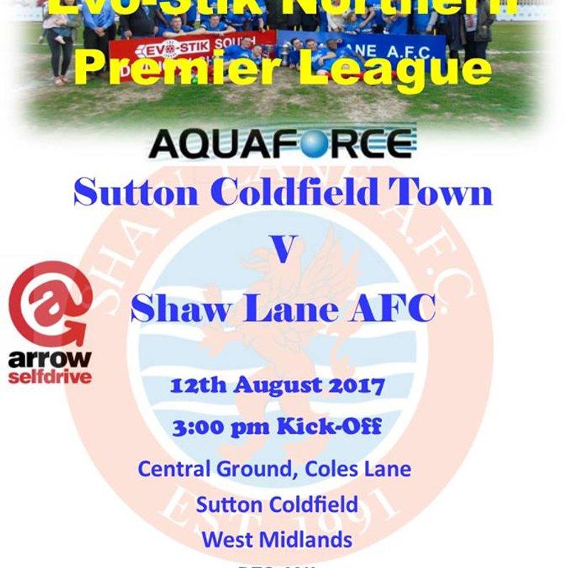 Sutton Coldfield Town vs Shaw Lane AFC