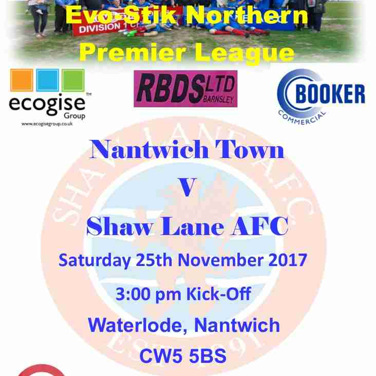 Nantwich Town v Shaw Lane AFC