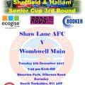 Match Preview - Shaw Lane v Wombwell Main
