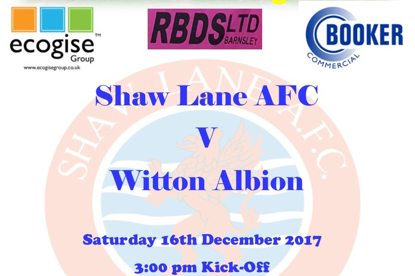 Match Preview - Shaw Lane AFC v Witton Albion