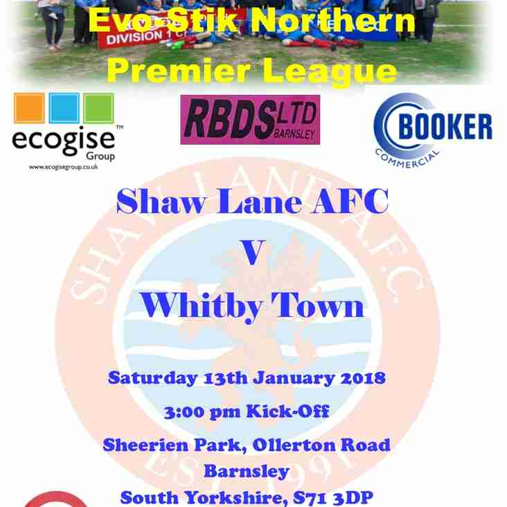 Shaw Lane AFC v Whitby Town Match Preview