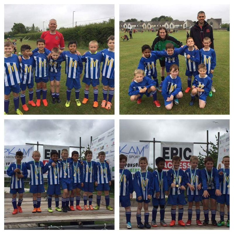 U8's have a great time at the Warmley Rangers tournament