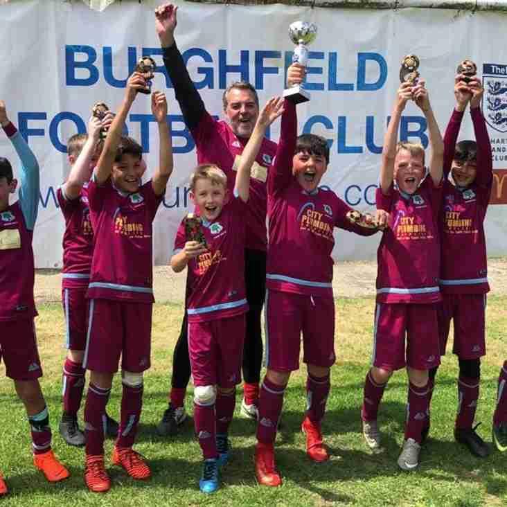 U10 Trojans WIN Burghfield tournament
