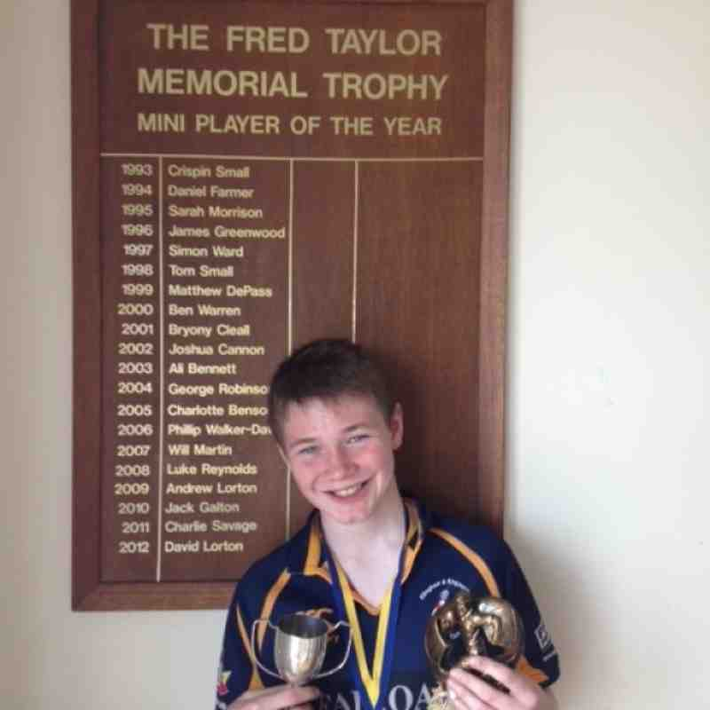 MINI's PLAYER OF THE YEAR - Aaron Moritzen - Under 12 Squad