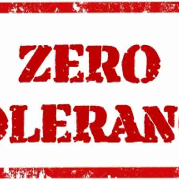 Hudderfield League Zero Tolerance Policy