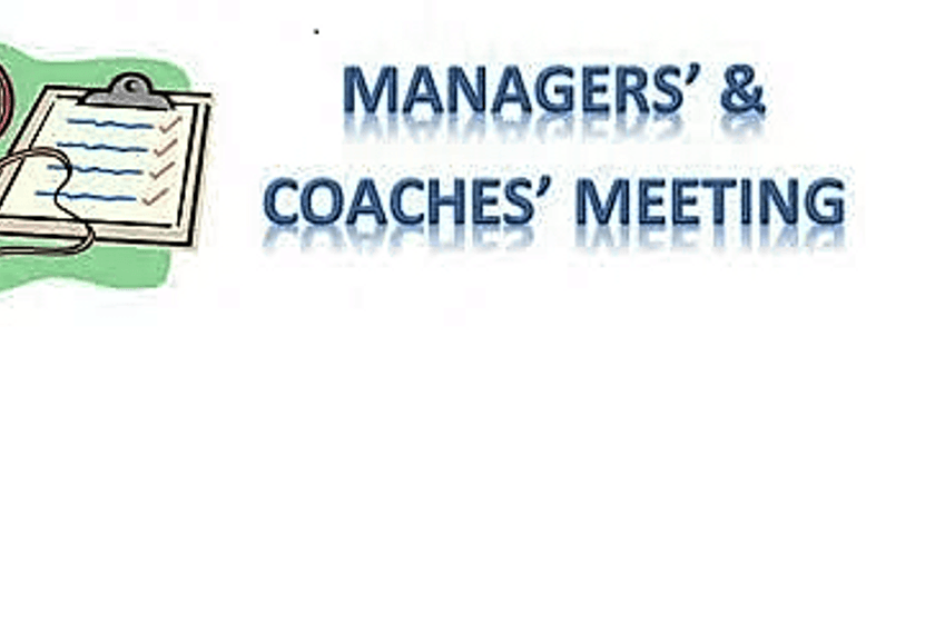 July Managers Meeting 8pm Monday 16th