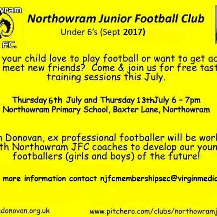 Calling all Budding Footballers