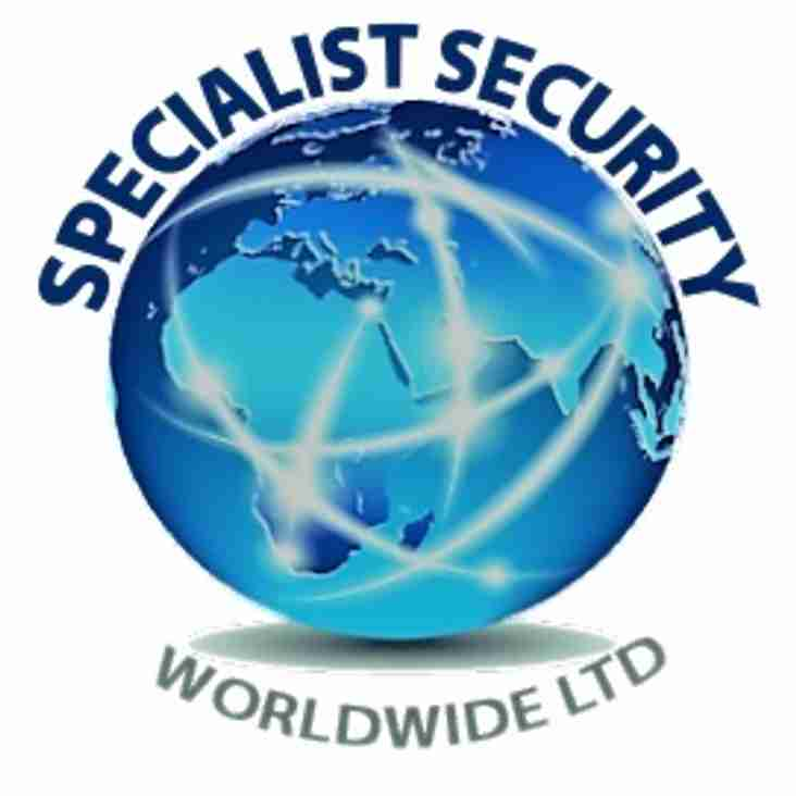 """Thanks to """"Specialist Security"""" for sponsoring the U15s new Kit"""