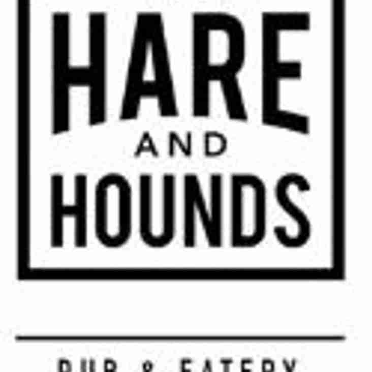 Hare and Hounds Hipperhome sponsors our U14's Team