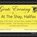 Gents Evening 27th April at the Shay