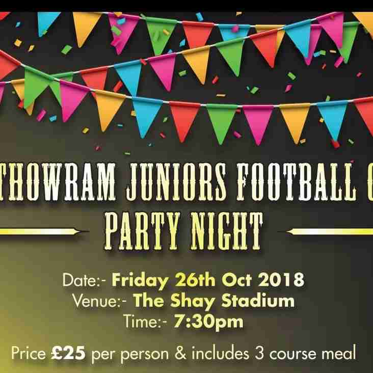NJFC Party Night - Friday 26th October