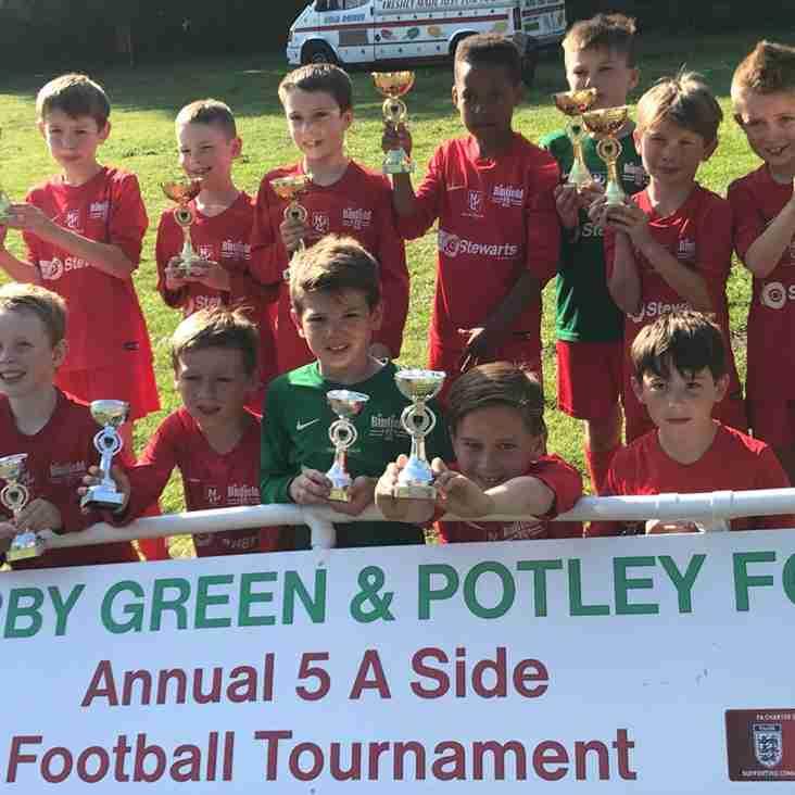 Binfield Raiders u8s Win Darby Green & Potley Tournament