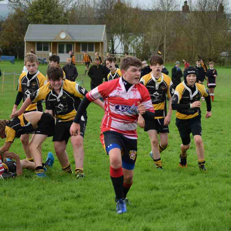 Under 14's at Wadebridge