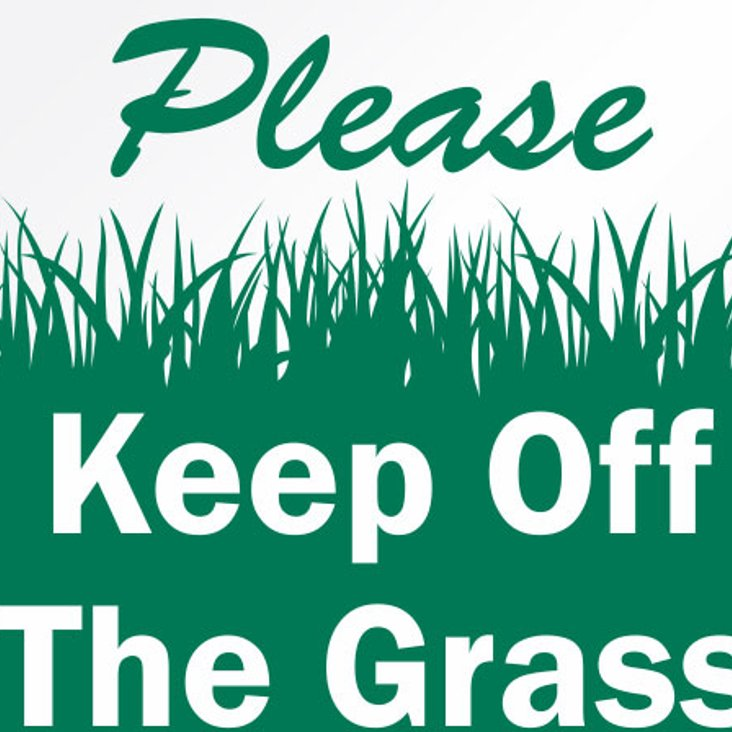 Please Keep Off First Team Pitch<