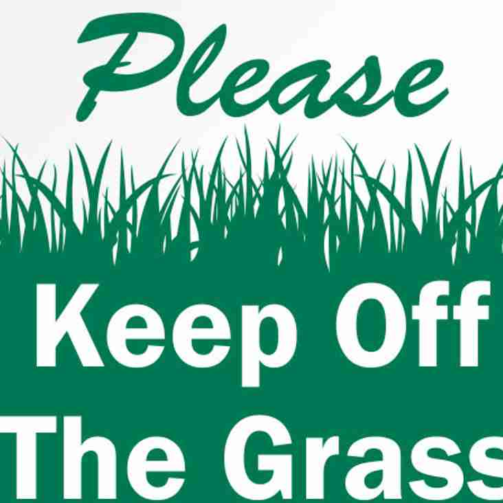 Please Keep Off First Team Pitch