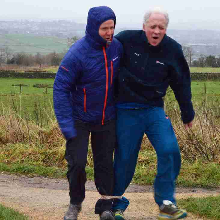Harry Gration and Paul Hudson 3 Legged Walk