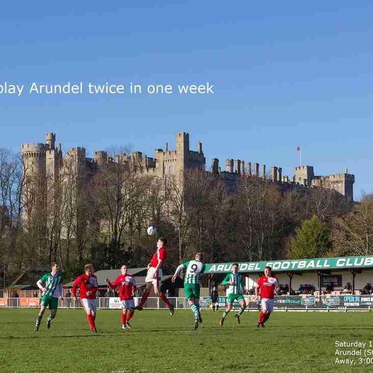 City face Arundel in both league and cup this week