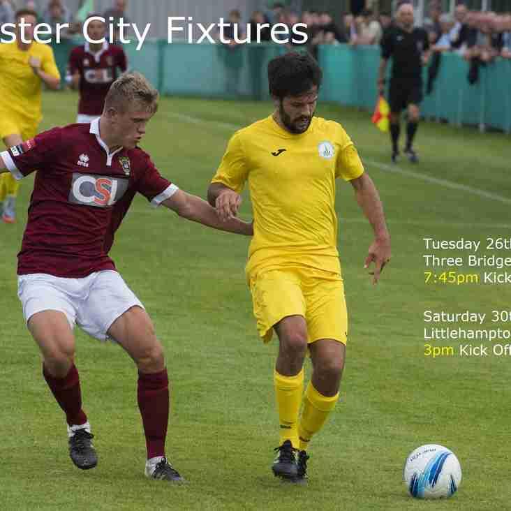 Chichester City Next Fixtures