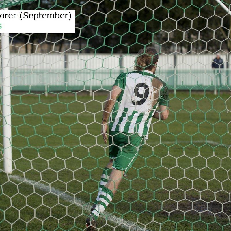 Scott Jones is Top Goalscorer in September