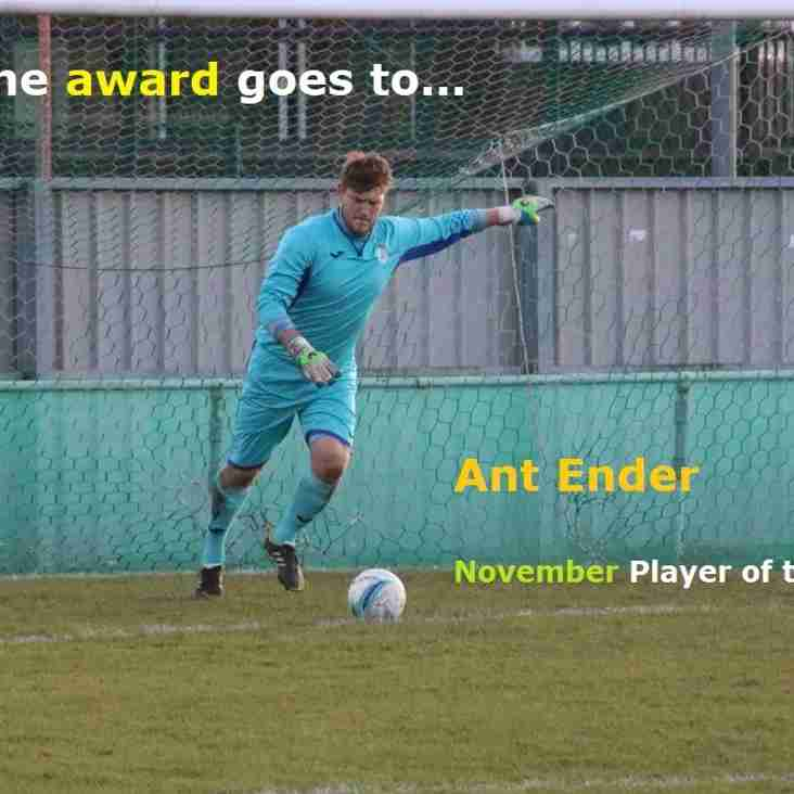 And the November Player of the Month Award goes to...