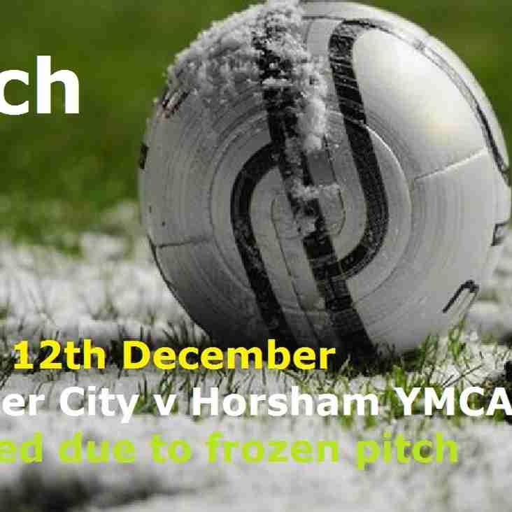 Chichester City v Horsham YMCA Postponed