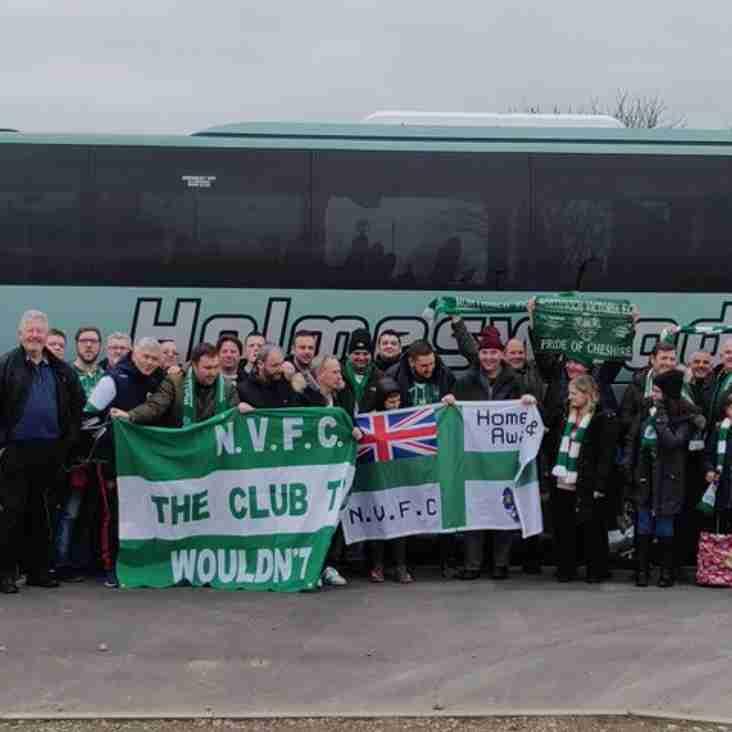Vics Match Day Travel to Histon 2nd February 2019