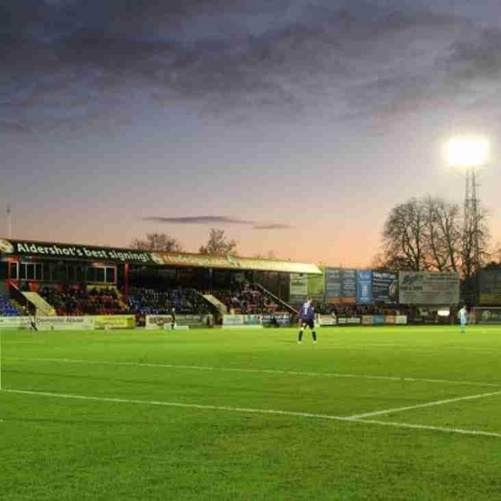 Aldershot Announce Plans To Redevelop Stadium