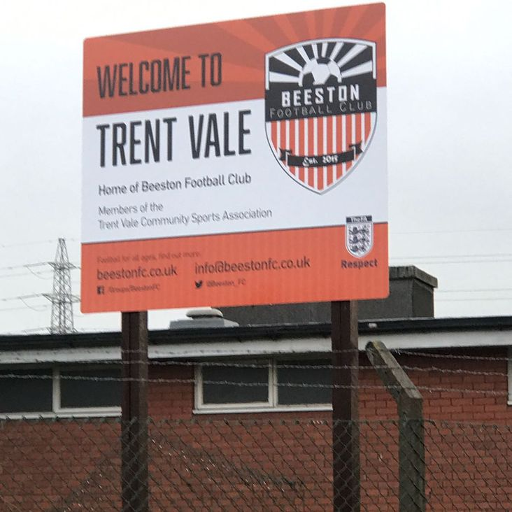 Club on the map with new Beeston FC sign<
