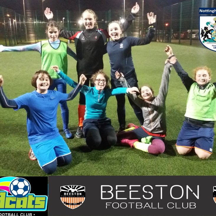 Wildcats football coaching for girls aged 5 to 13<