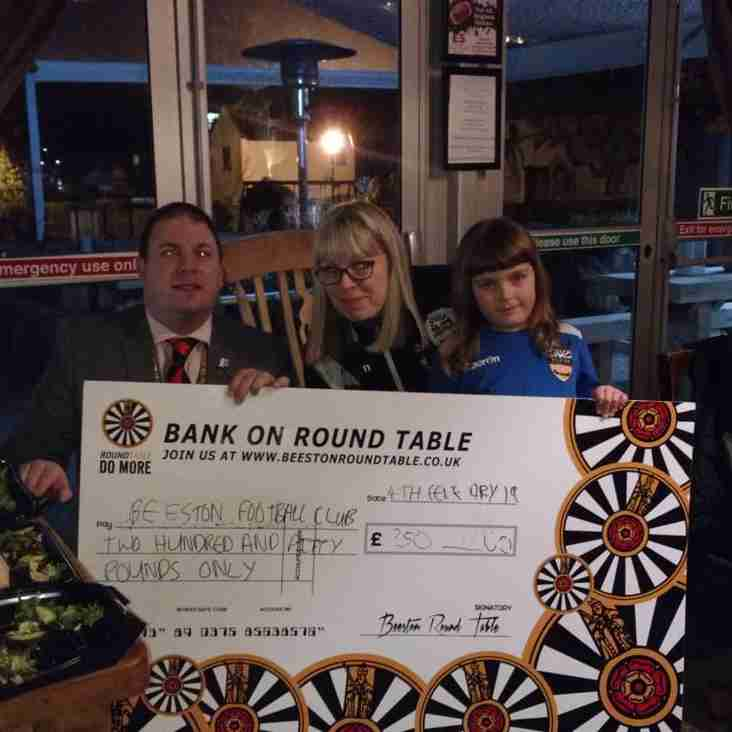 Thank you Chilwell! Beeston FC awarded £250 from fundraising