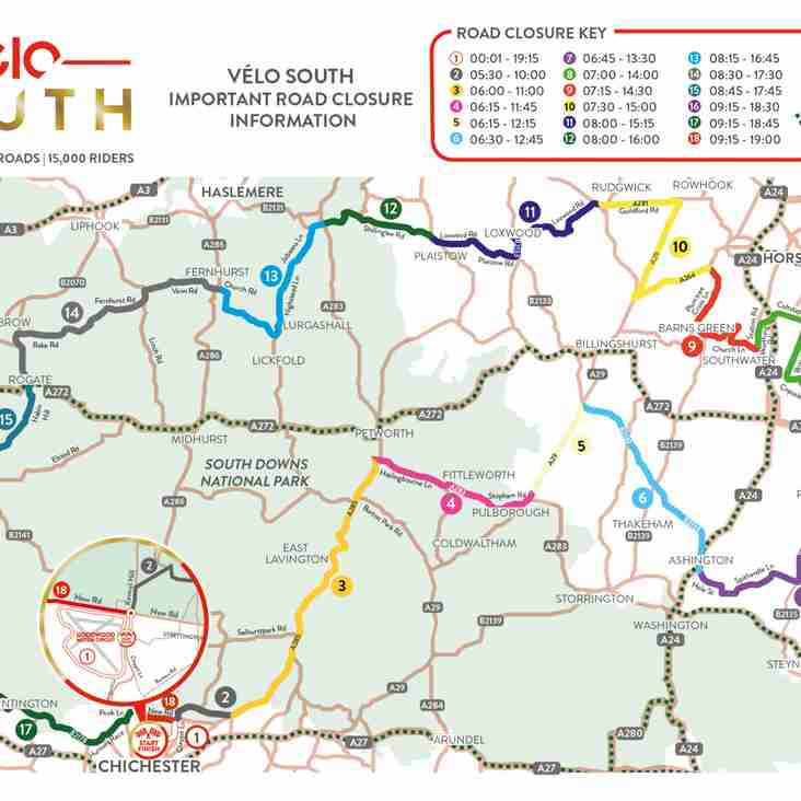 Velo South Road Closures [23 September]