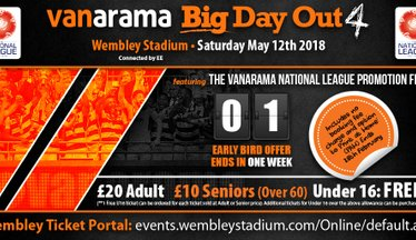 Vanarama Big Day Out 4 - There's Only One Week To Go!