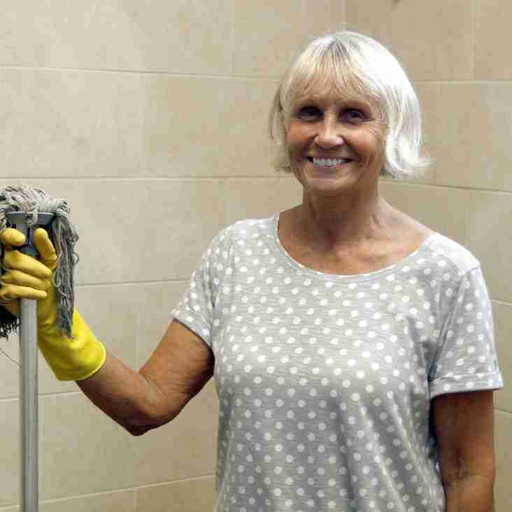Anne Is Stockport County's Queen Of Clean!