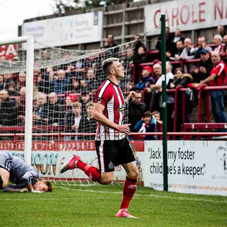 Hulme Happy At Alty As Striker Signs New Robins Contract