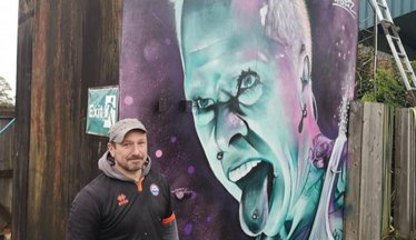 Iron's Mural Is Perfect Tribute To Local Legend Flint