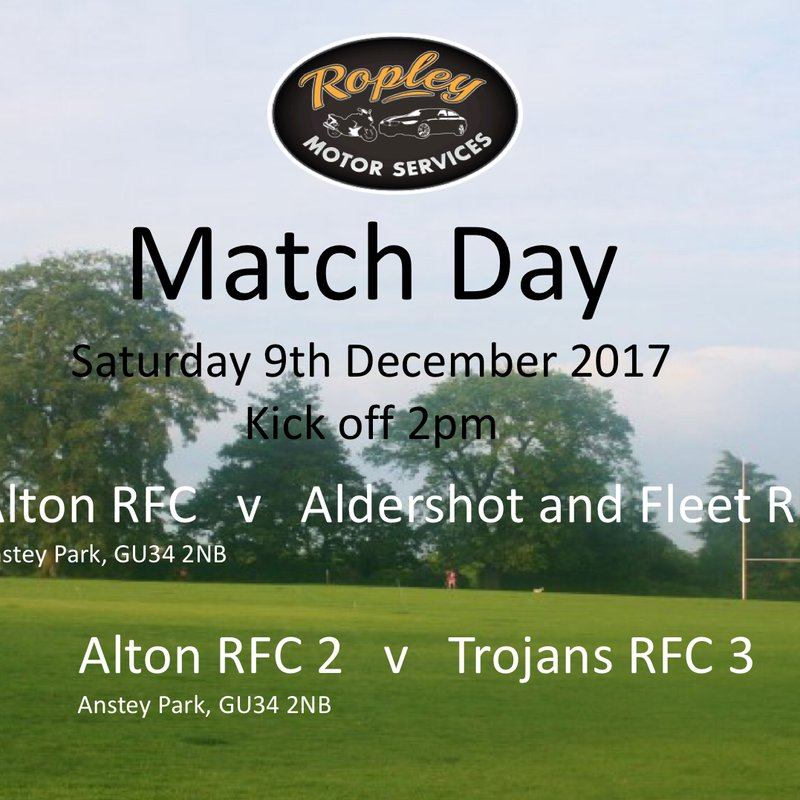 1st XV lose to ALDERSHOT & FLEET 0 - 31