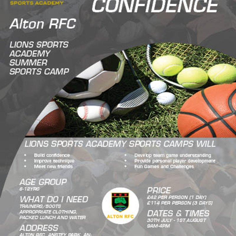 Lions Sports Academy Summer Sports Camp