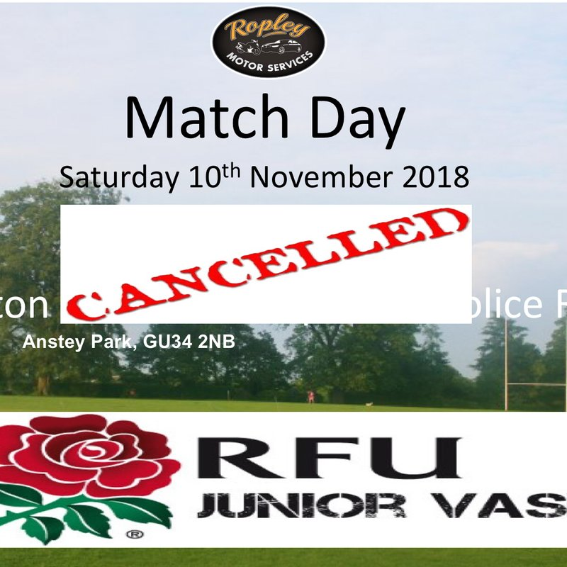 Alton RFC 1st XV 'Walk Over' in 2nd Round of the London & SE Junior Vase