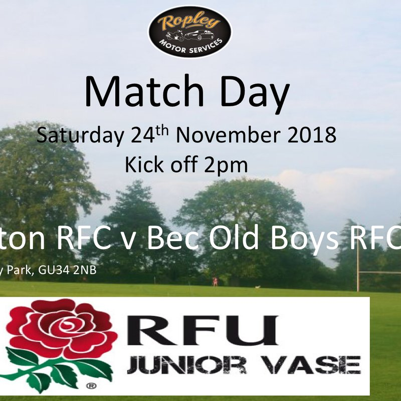 Alton RFC vs. Bec Old Boys RFC