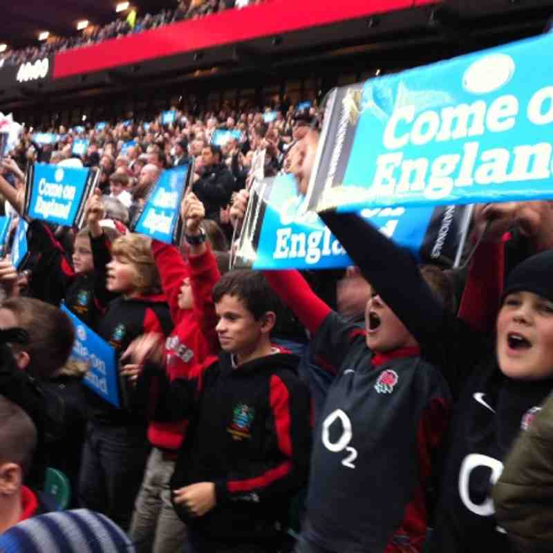U11s at Twickenham (England v. Fiji)