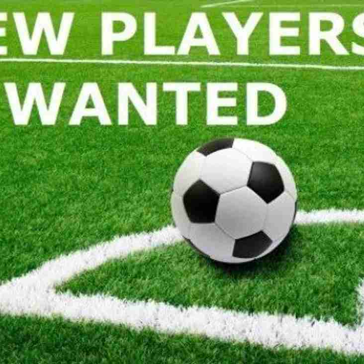 New Players Wanted for Under 18's