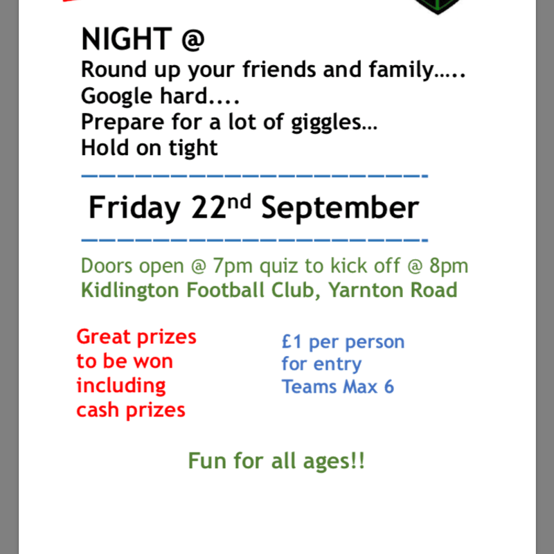 Quiz Night is Back!